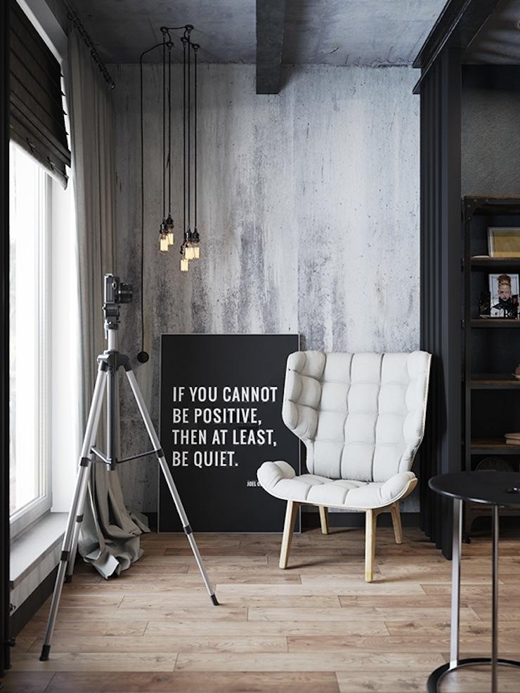 estilo-industrial-apartamento-com-decoracao-conceitual-denis-Krasikov-8  Estilo industrial: veja este apartamento com decoração conceitual estilo industrial apartamento com decoracao conceitual denis Krasikov 8
