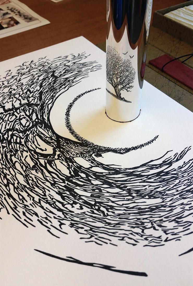 Ilusão de Ótica Ilusão de Ótica: Artista Cria Peças que Darão um Nó no Seu Cérebro ilusao de otica artista cria pecas que darao um no no seu cerebro 3