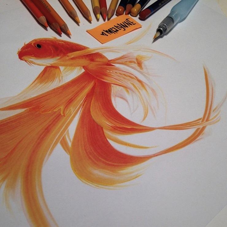 hiper-realismo-arte-com-lapis-de-cor-marcadores-e-tinta-10  Hiper-realismo: arte das boas com lápis de cor, marcadores e tinta hiper realismo arte com lapis de cor marcadores e tinta 10