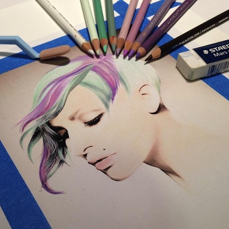 hiper-realismo-arte-com-lapis-de-cor-marcadores-e-tinta-11  Hiper-realismo: arte das boas com lápis de cor, marcadores e tinta hiper realismo arte com lapis de cor marcadores e tinta 11