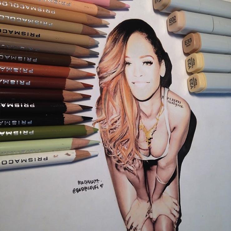hiper-realismo-arte-com-lapis-de-cor-marcadores-e-tinta-12  Hiper-realismo: arte das boas com lápis de cor, marcadores e tinta hiper realismo arte com lapis de cor marcadores e tinta 12