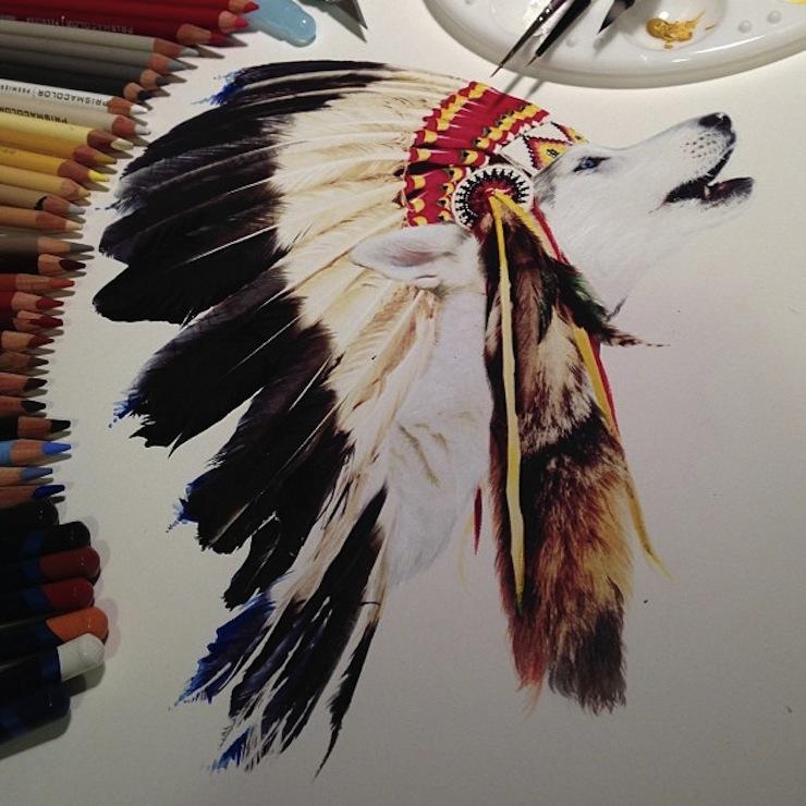 hiper-realismo-arte-com-lapis-de-cor-marcadores-e-tinta-13  Hiper-realismo: arte das boas com lápis de cor, marcadores e tinta hiper realismo arte com lapis de cor marcadores e tinta 13