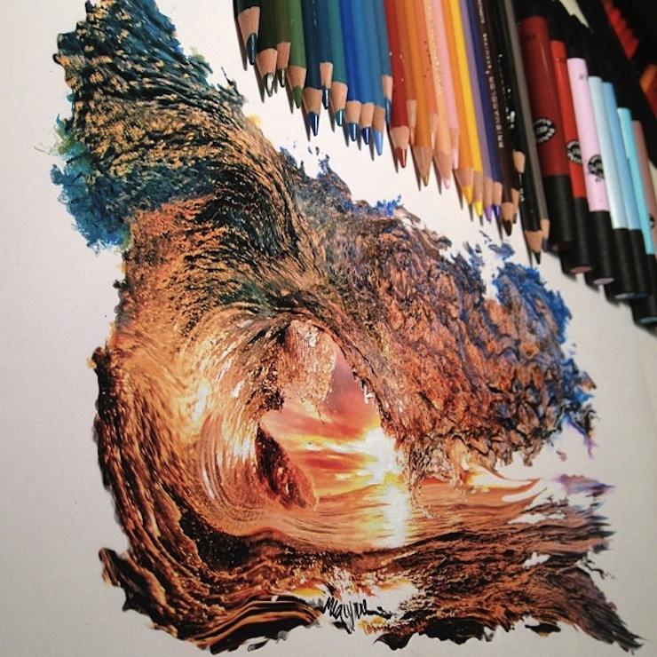 hiper-realismo-arte-com-lapis-de-cor-marcadores-e-tinta-4  Hiper-realismo: arte das boas com lápis de cor, marcadores e tinta hiper realismo arte com lapis de cor marcadores e tinta 4