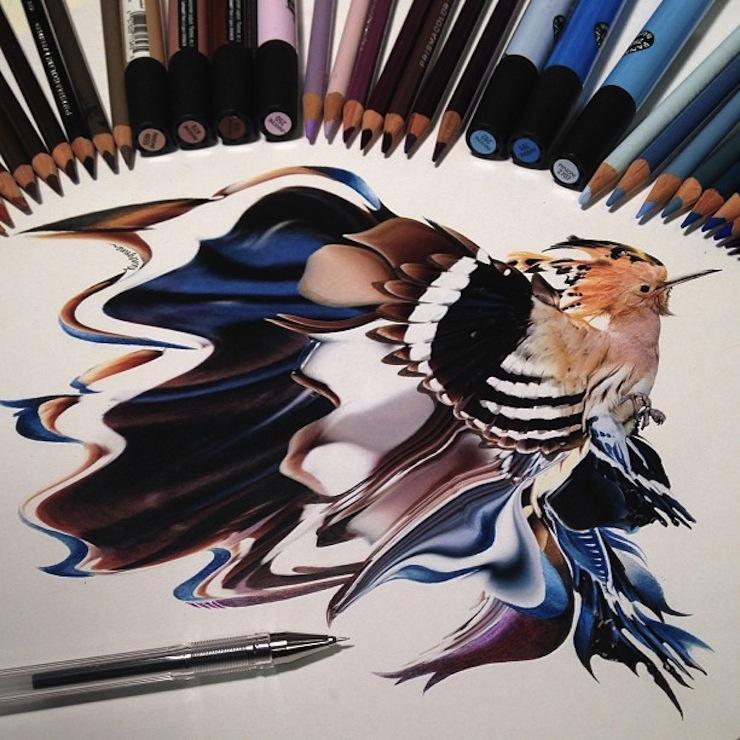hiper-realismo-arte-com-lapis-de-cor-marcadores-e-tinta-5  Hiper-realismo: arte das boas com lápis de cor, marcadores e tinta hiper realismo arte com lapis de cor marcadores e tinta 5