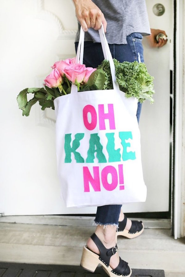 Para as amantes da natureza, este projeto é perfeito! Seguindo este tutorial, você poderá criar sua própria sacola reciclável para ir às compras e arrasar de compras. (via Beautiful Mess).  8 Projetos DIY que você pode fazer neste fim de semana 8 projetos diy voce pode fazer neste fim de semana 8